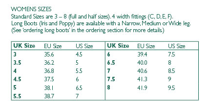 49579de2 Long Boots (Iris and Poppy) are available with a Narrow, Medium or Wide leg.
